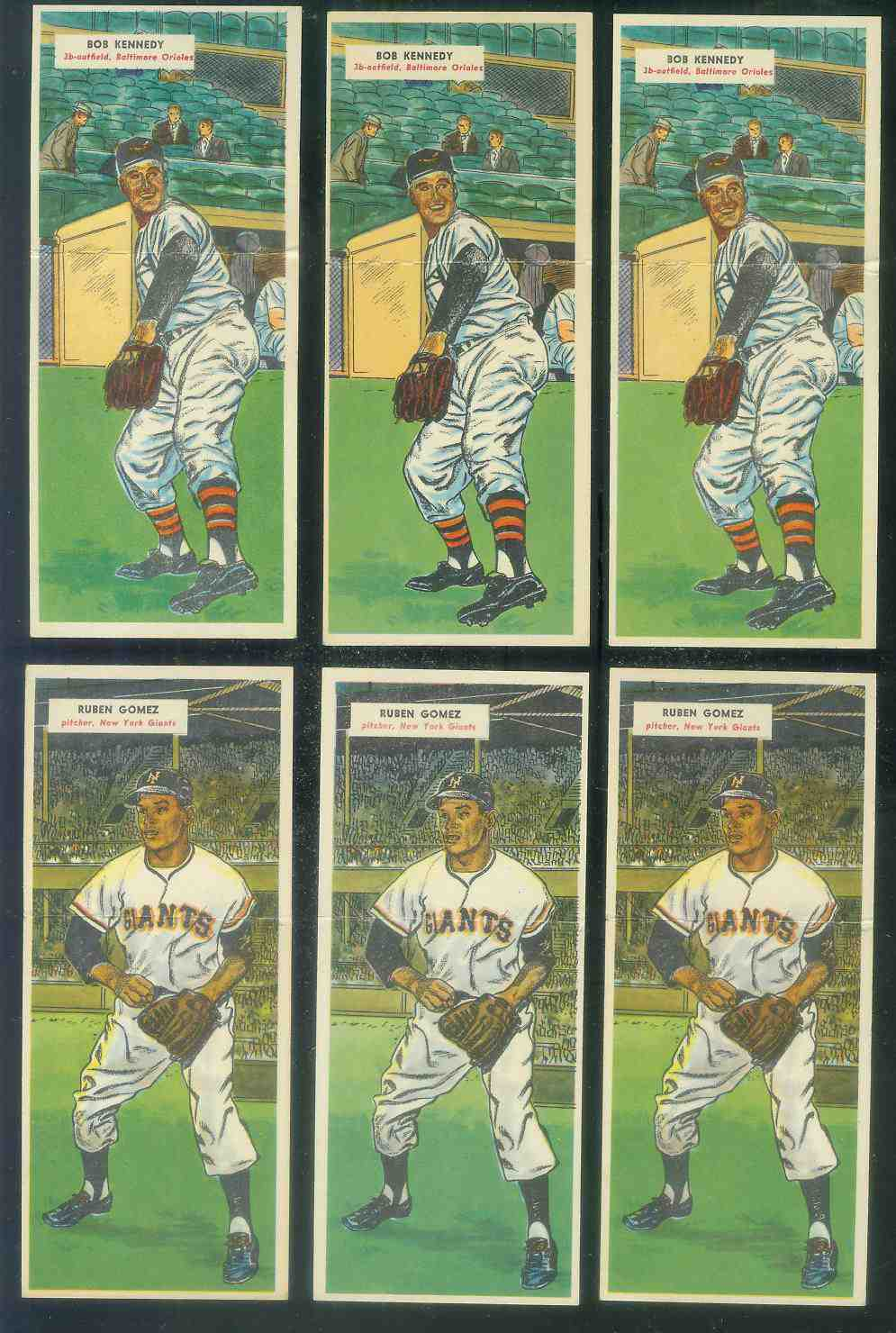 1955 Topps Double Header #.89 Ruben Gomez / #90 Jim Rivera Baseball cards value
