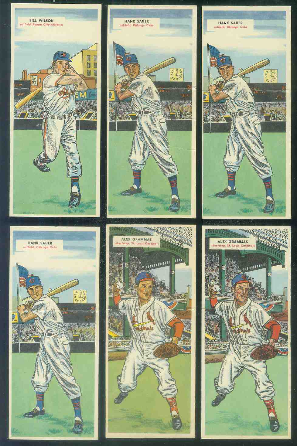 1955 Topps Double Header #101 Bill Wilson / #102 Bill Tremel Baseball cards value
