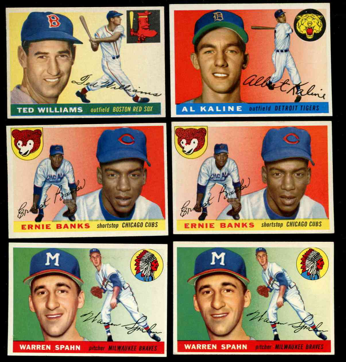 1955 Topps #.31 Warren Spahn [#j2] (Braves) Baseball cards value