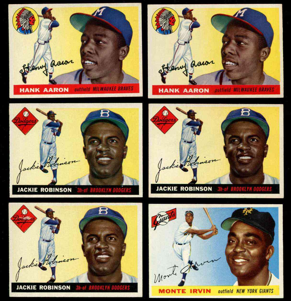 1955 Topps #.50 Jackie Robinson [#j1] (Brooklyn Dodgers) Baseball cards value