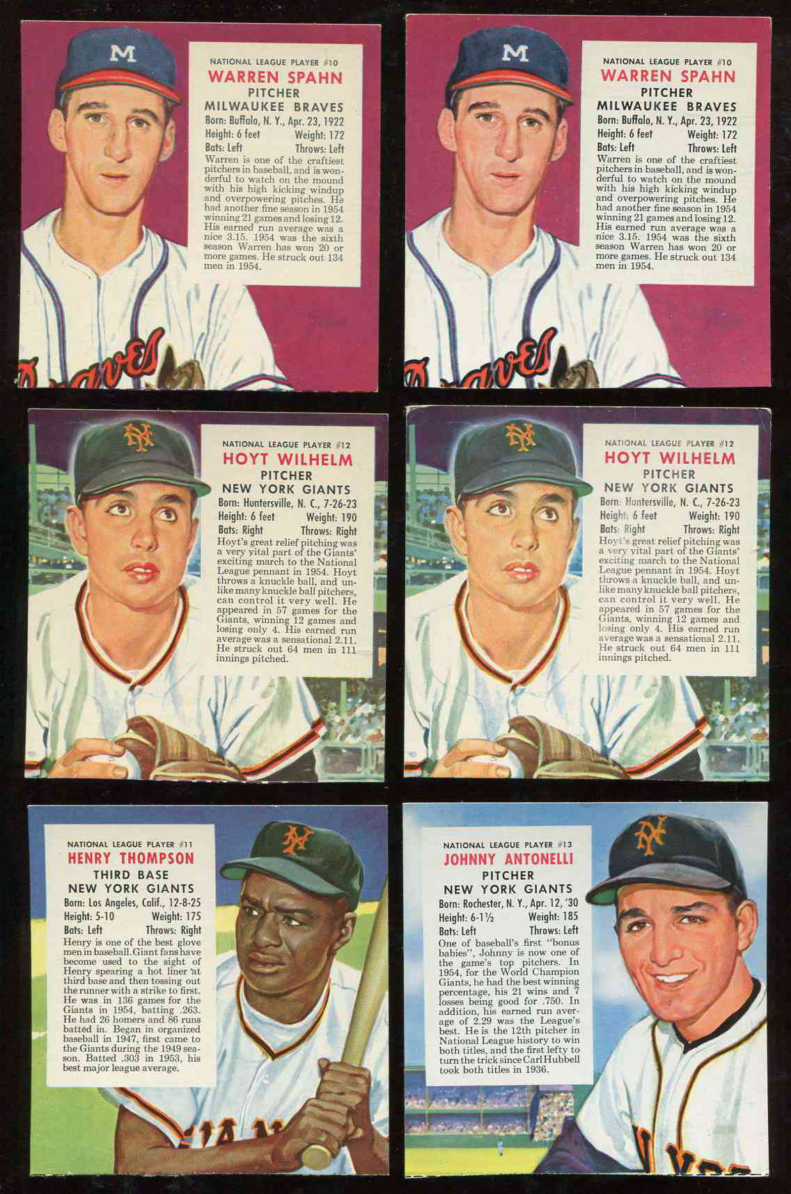 1955 Red Man #NL11 Hank Thompson (Giants) Baseball cards value