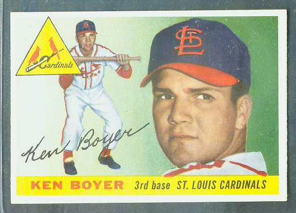 1955 Topps #125 Ken Boyer ROOKIE [#a] (Cardinals) Baseball cards value