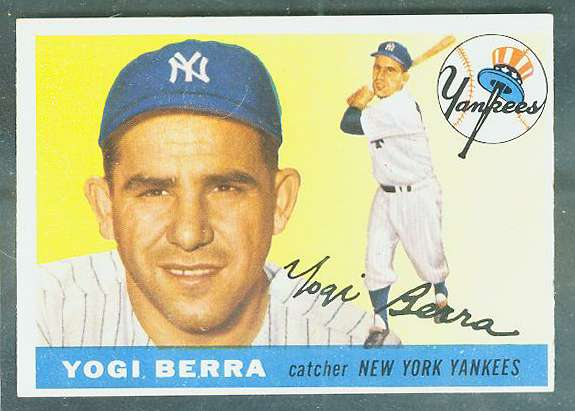 1955 Topps #198 Yogi Berra SCARCE HIGH NUMBER [#asc] (Yankees) Baseball cards value
