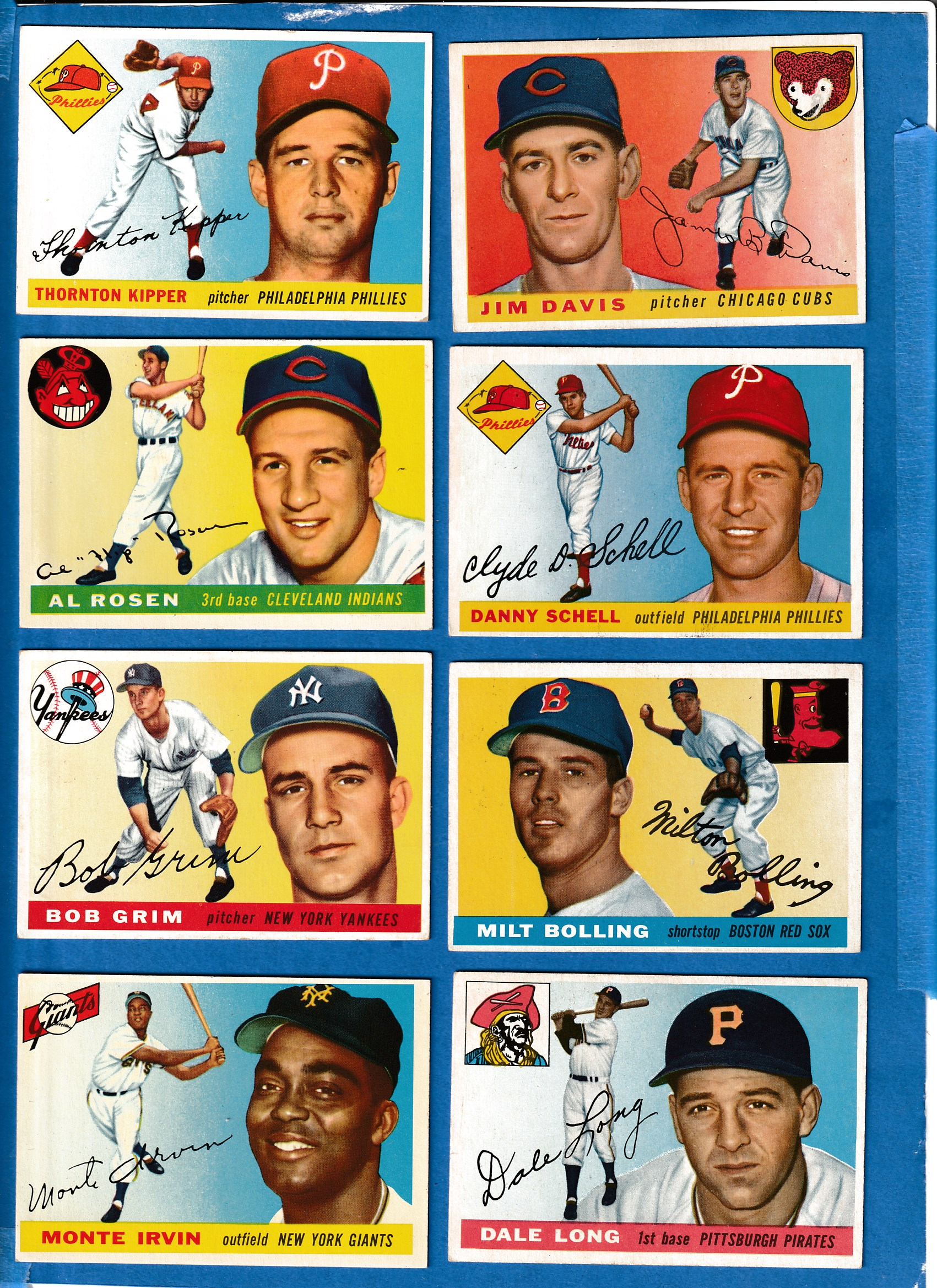 1955 Topps #127 Dale Long ROOKIE [#r] (Pirates) Baseball cards value