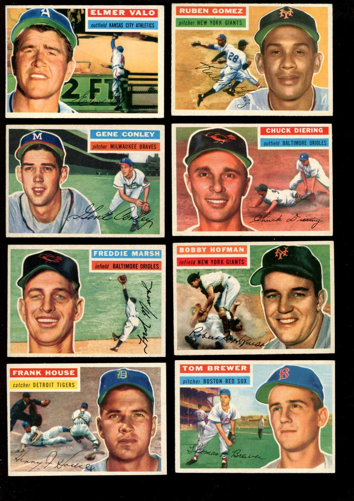 1956 Topps #.23 Fred Marsh [#x] (Orioles) Baseball cards value