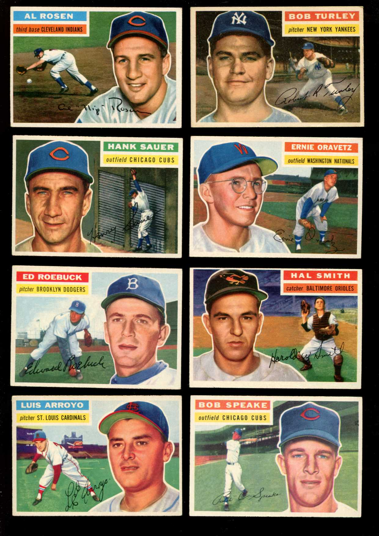 1956 Topps #.35 Al Rosen [#x] (Indians) Baseball cards value