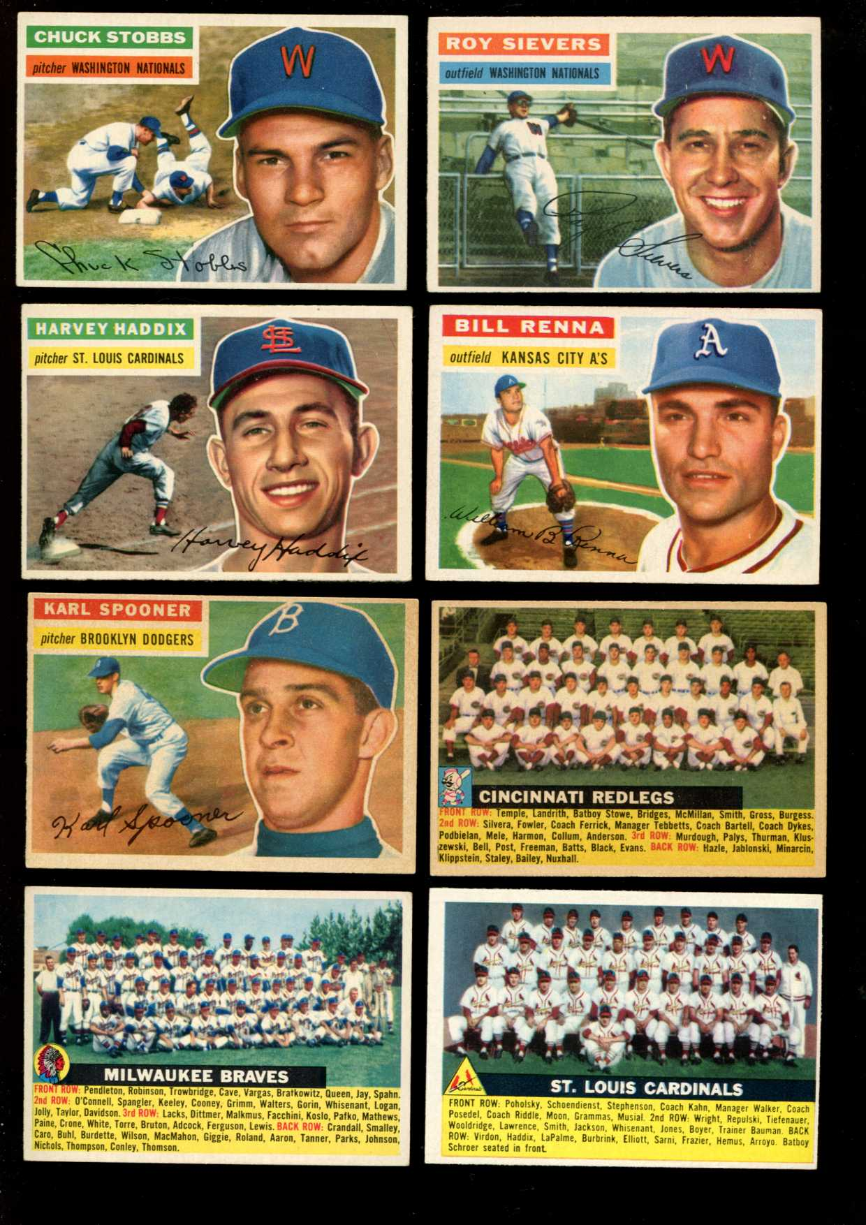 1956 Topps #.83 Karl Spooner {Gray Back} (Dodgers) Baseball cards value