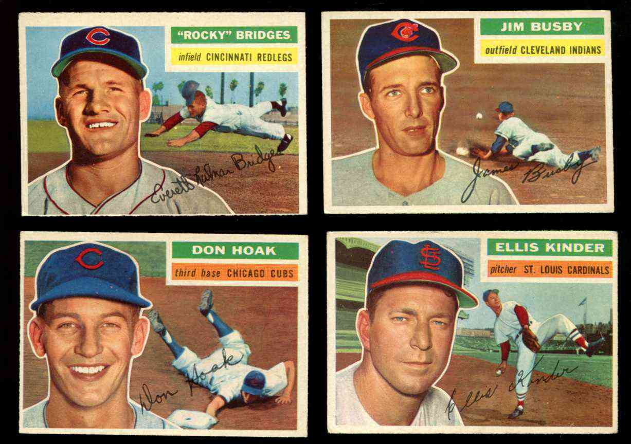 1956 Topps #335 Don Hoak [#x] (Cubs) Baseball cards value