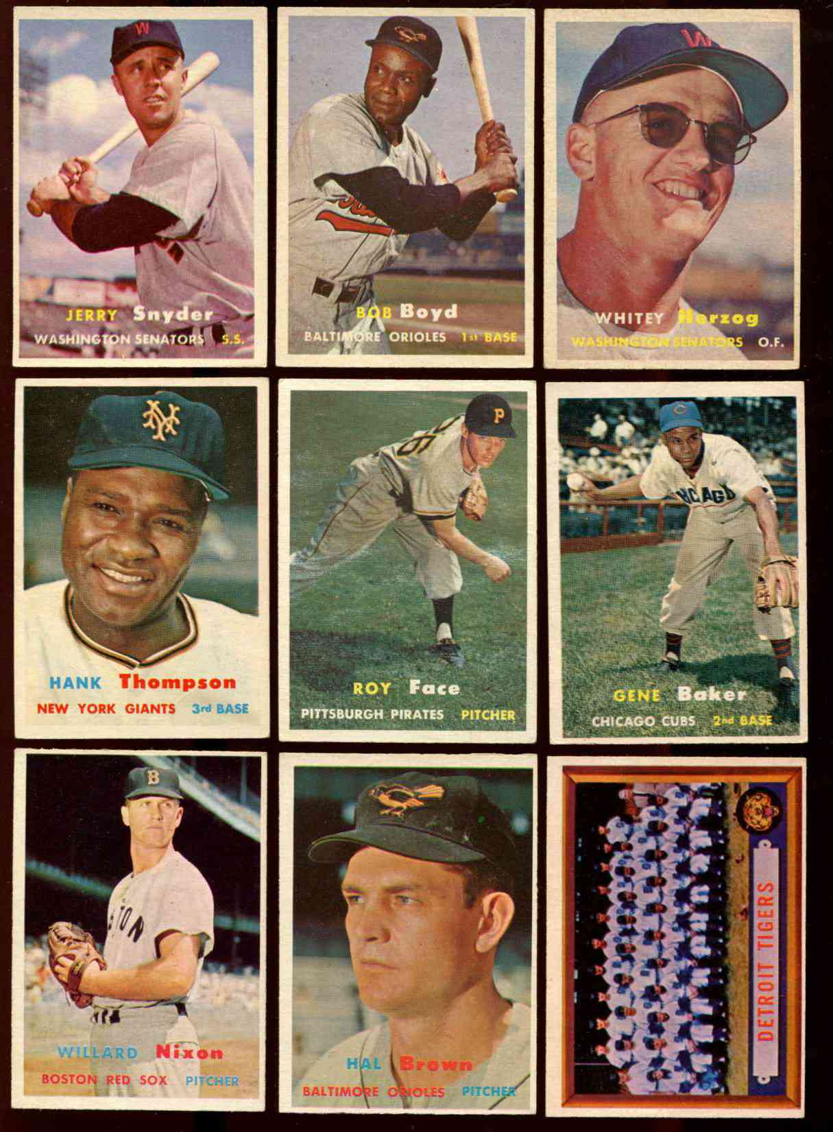 1957 Topps #198 Tigers TEAM card [#bsc] Baseball cards value