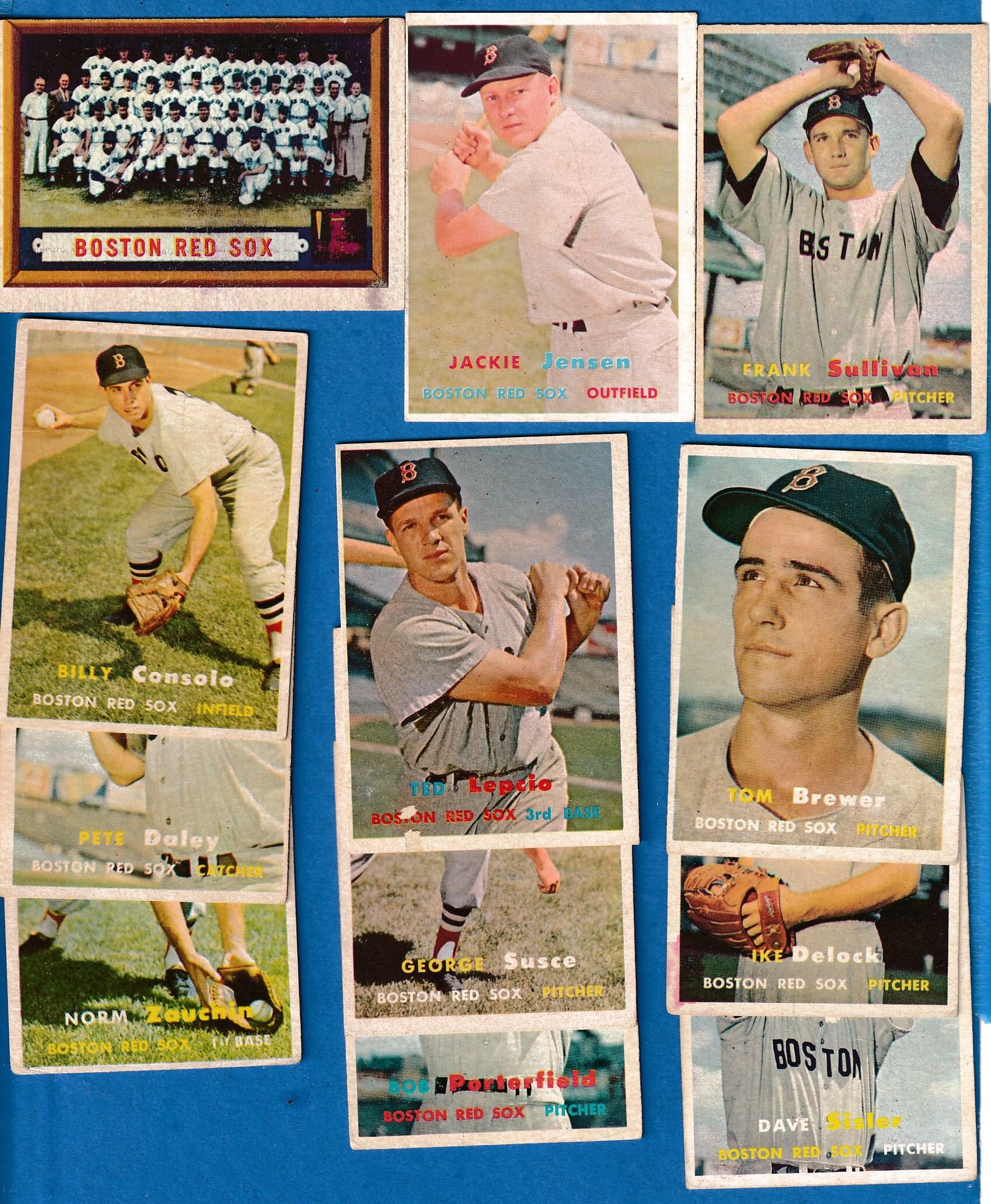 1957 Topps Boston Red Sox Starter Team Setlot 15