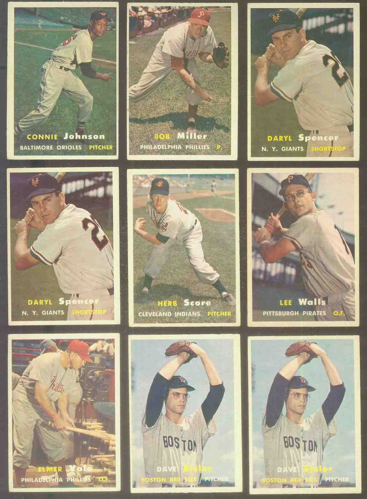 1957 Topps #.49 Daryl Spencer (NY Giants) Baseball cards value