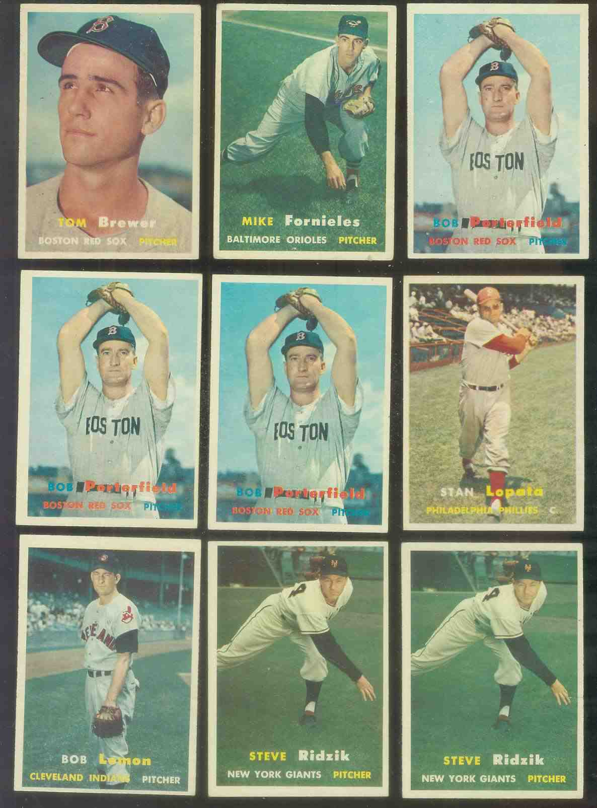 1957 Topps #118 Bob Porterfield (Red Sox) Baseball cards value