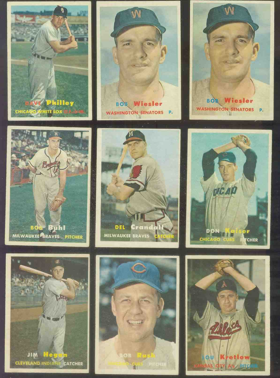 1957 Topps #136 Jim Hegan (Indians) Baseball cards value