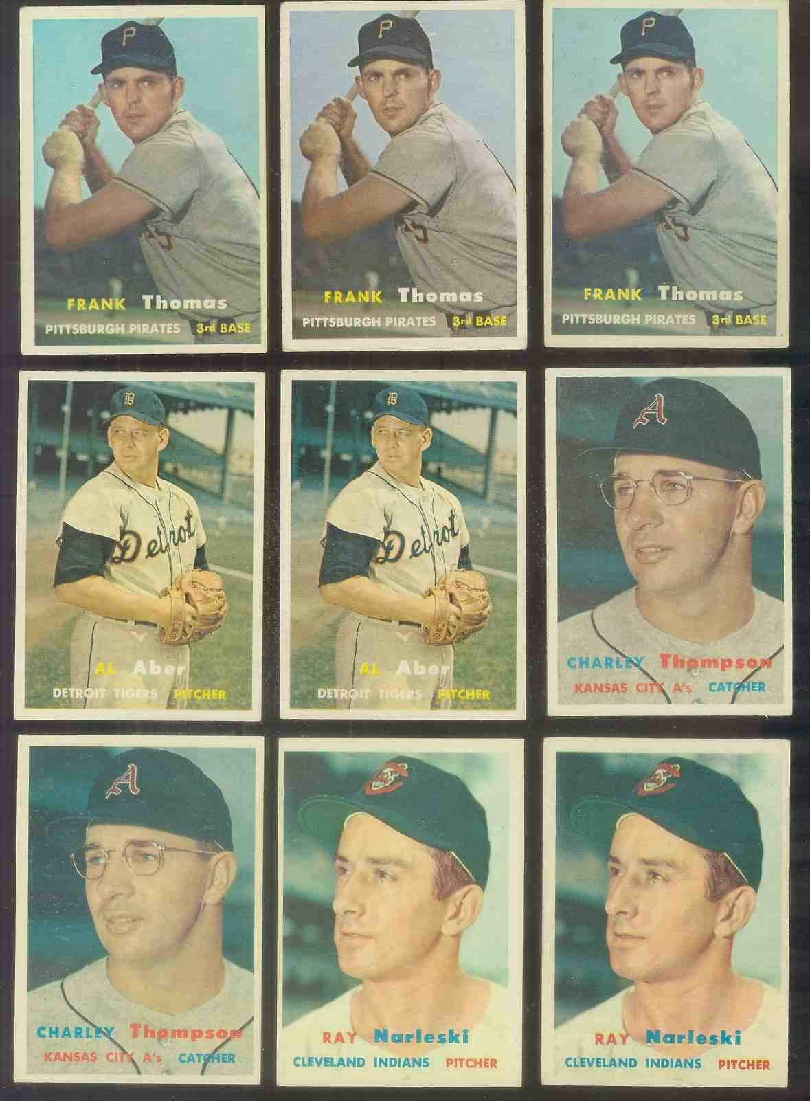 1957 Topps #140 Frank Thomas (Pirates) Baseball cards value