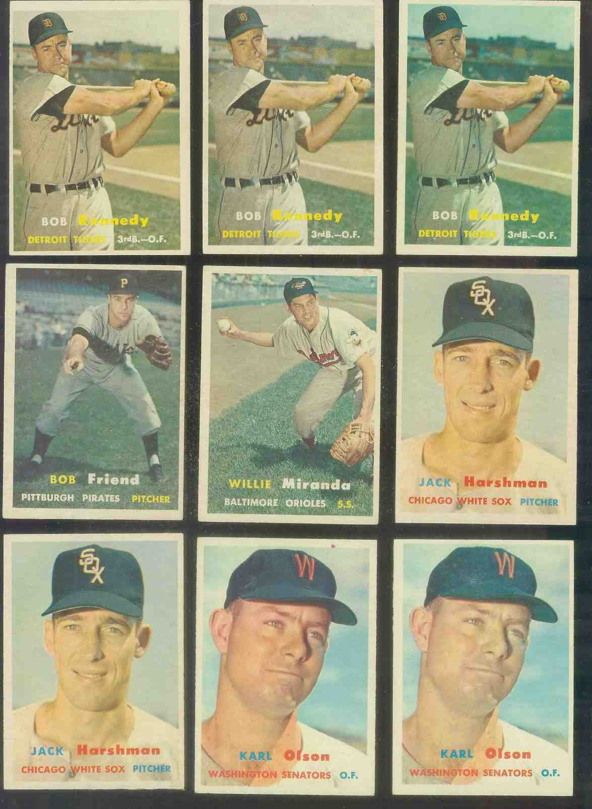 1957 Topps #149 Bob Kennedy (Tigers) Baseball cards value