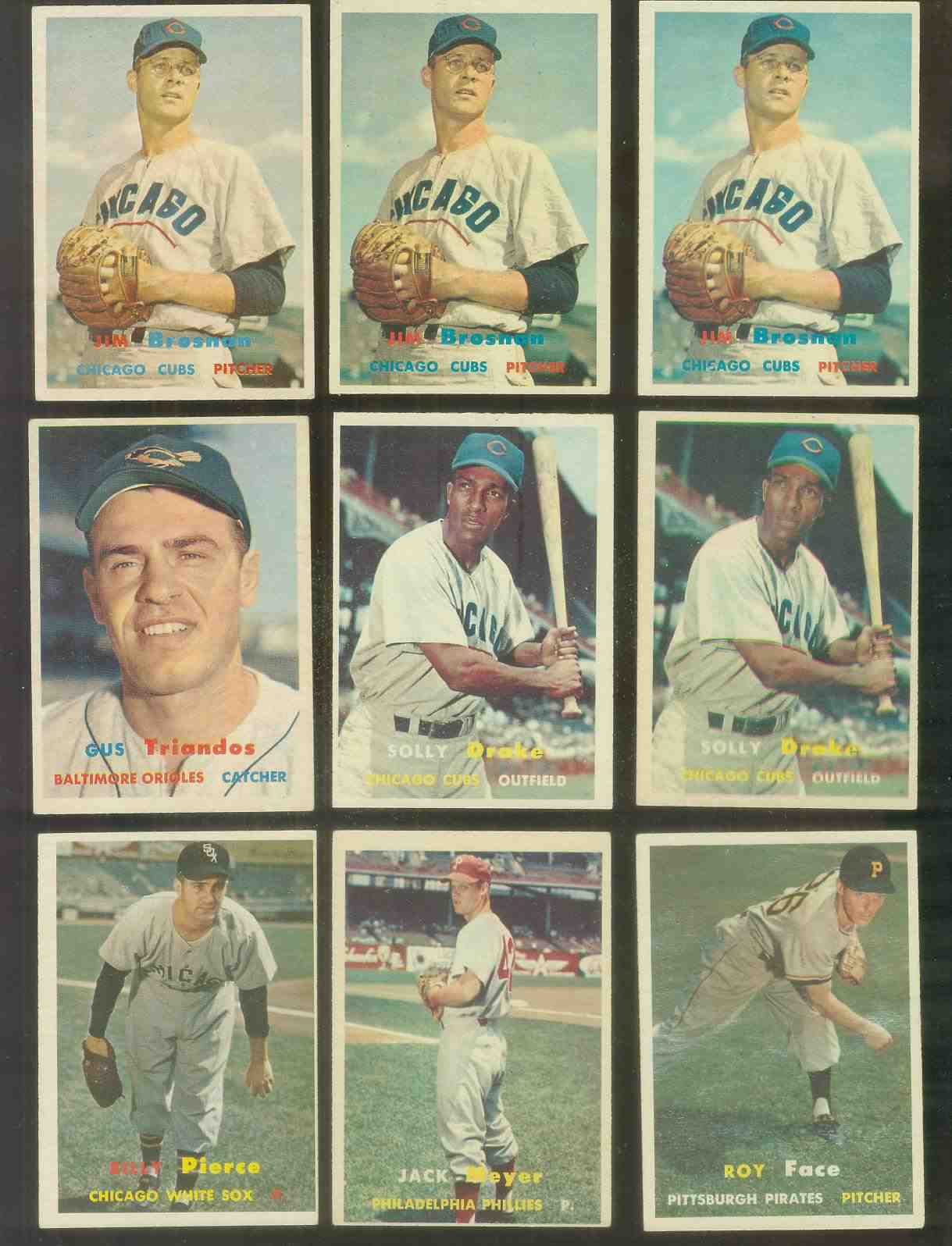 1957 Topps #159 Solly Drake (Cubs) Baseball cards value