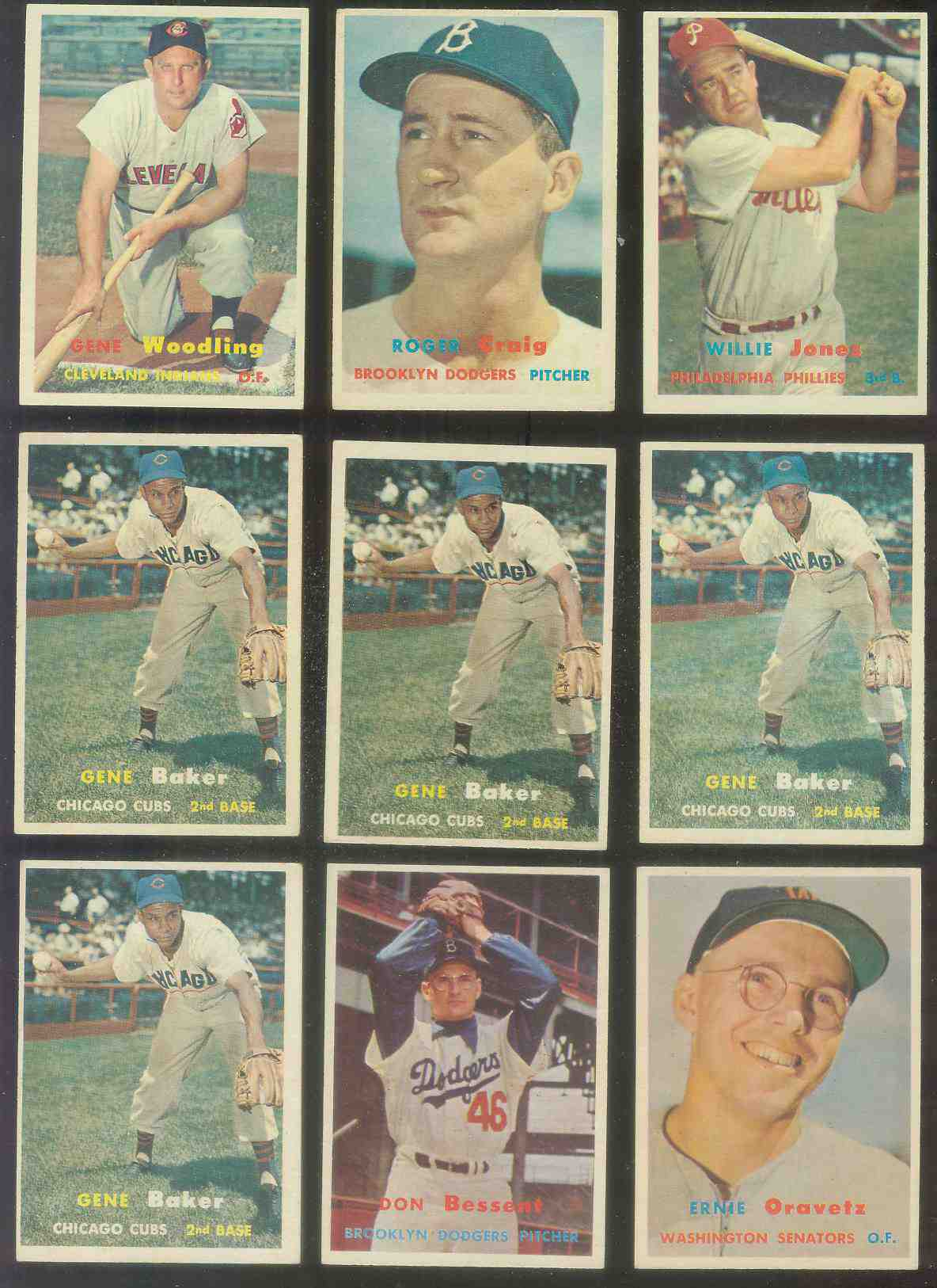 1957 Topps #172 Gene Woodling (Indians) Baseball cards value