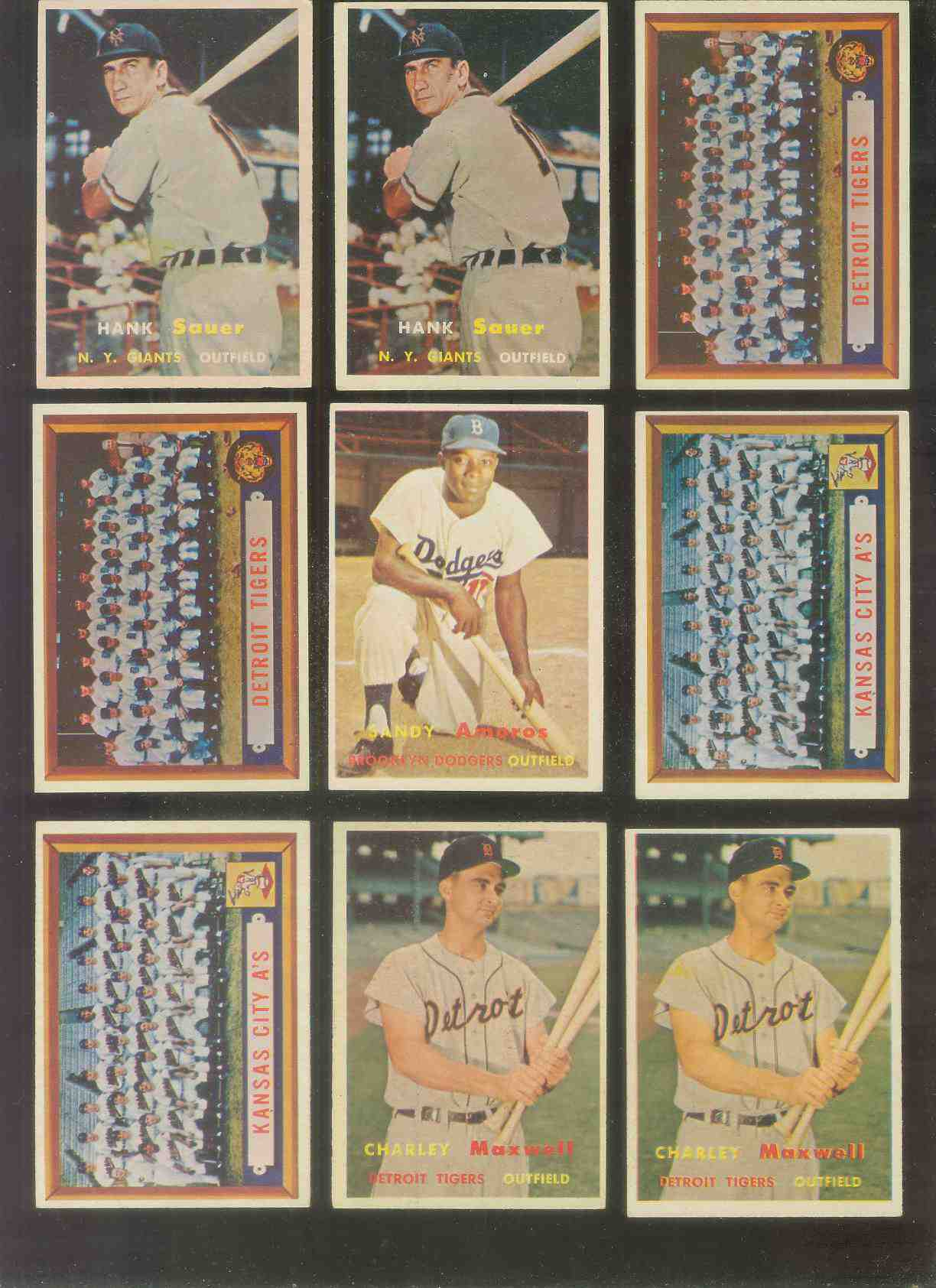 1957 Topps #198 Tigers TEAM card [#e] Baseball cards value
