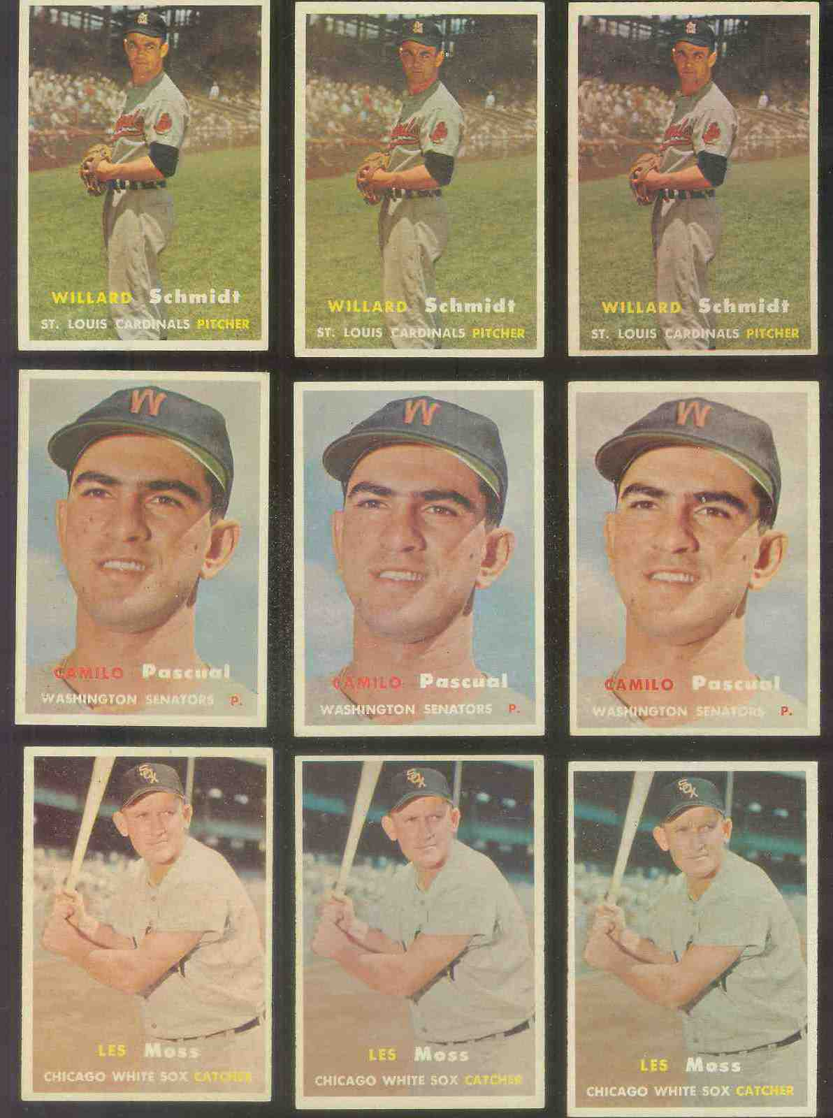 1957 Topps #213 Les Moss (White Sox) Baseball cards value