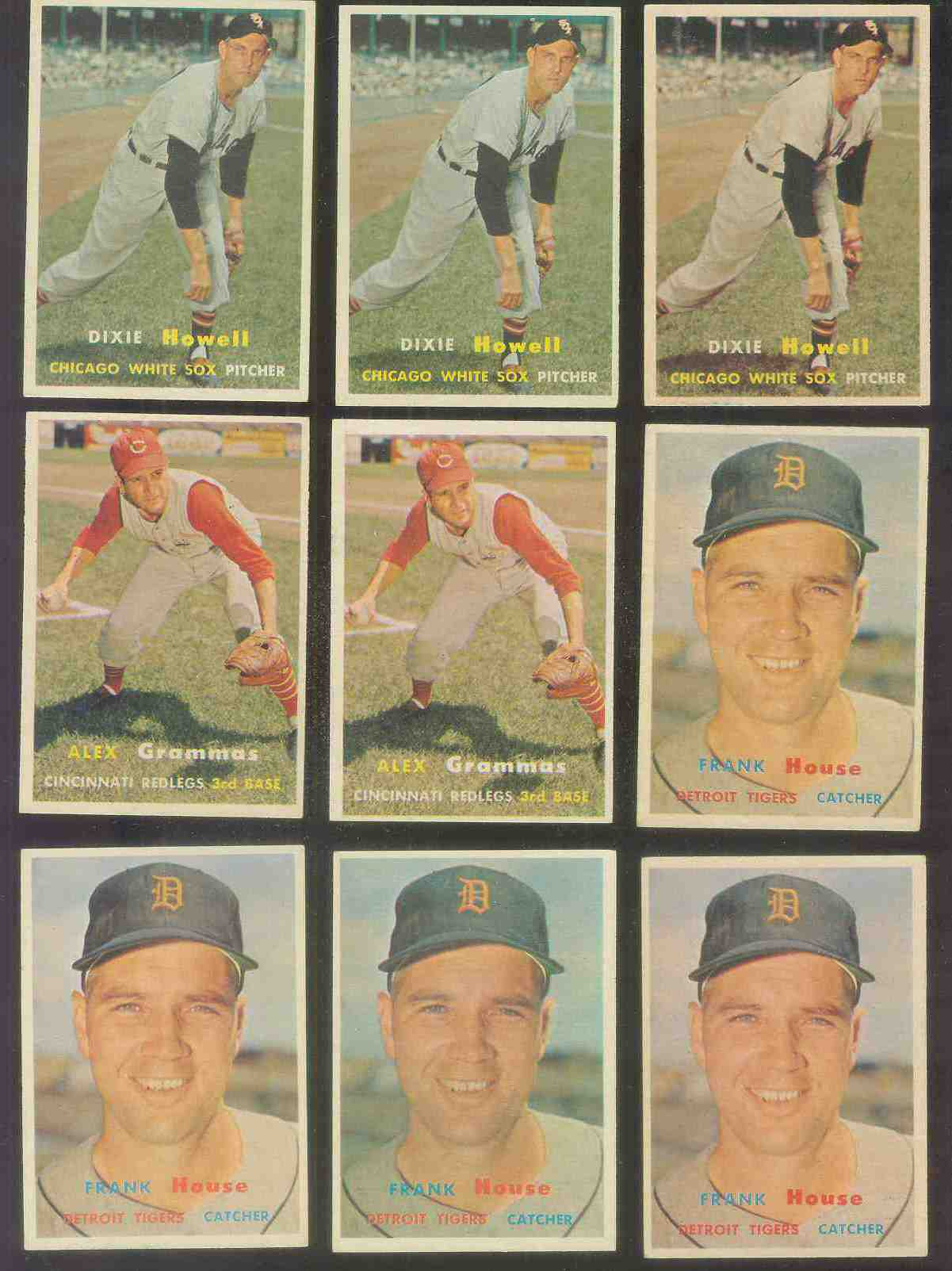 1957 Topps #222 Alex Grammas (Reds) Baseball cards value