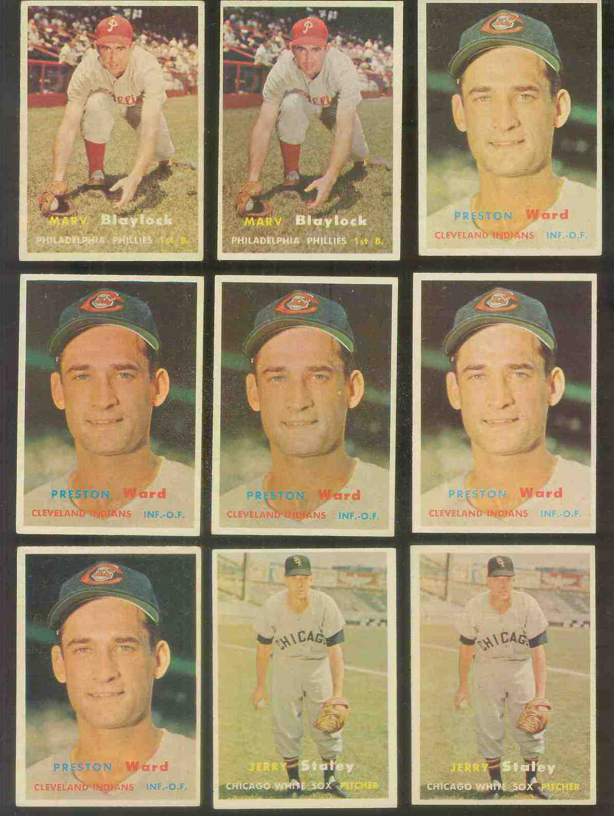 1957 Topps #226 Preston Ward (Indians) Baseball cards value
