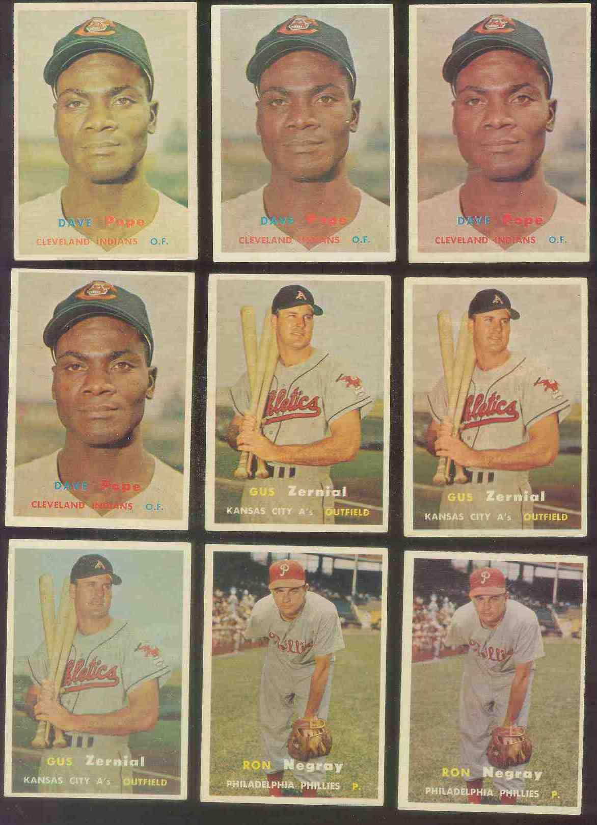 1957 Topps #249 Dave Pope (Indians) Baseball cards value
