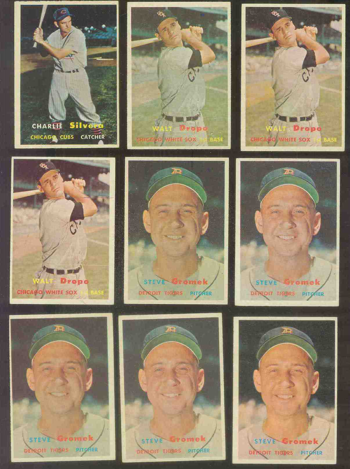 1957 Topps #257 Walt Dropo (White Sox) Baseball cards value