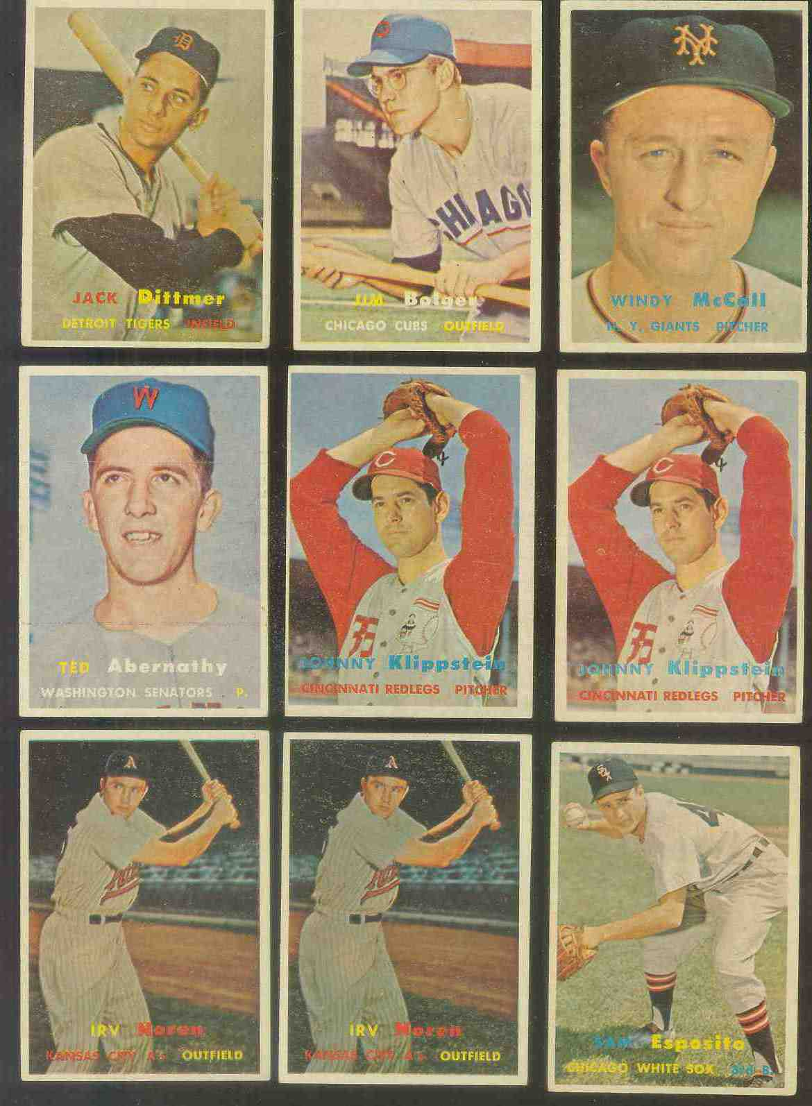 1957 Topps #291 Windy McCall SCARCE MID SERIES (NY Giants) Baseball cards value
