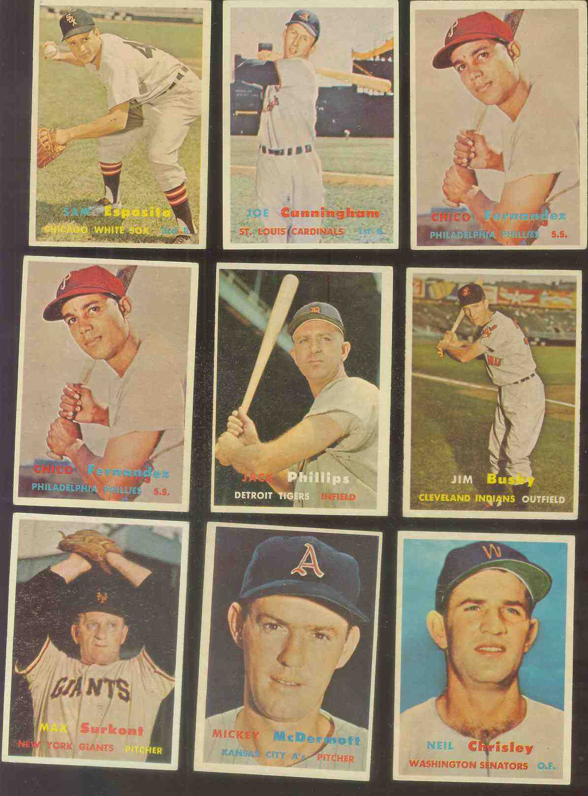 1957 Topps #320 Neil Chrisley SCARCE MID SERIES (Senators) Baseball cards value