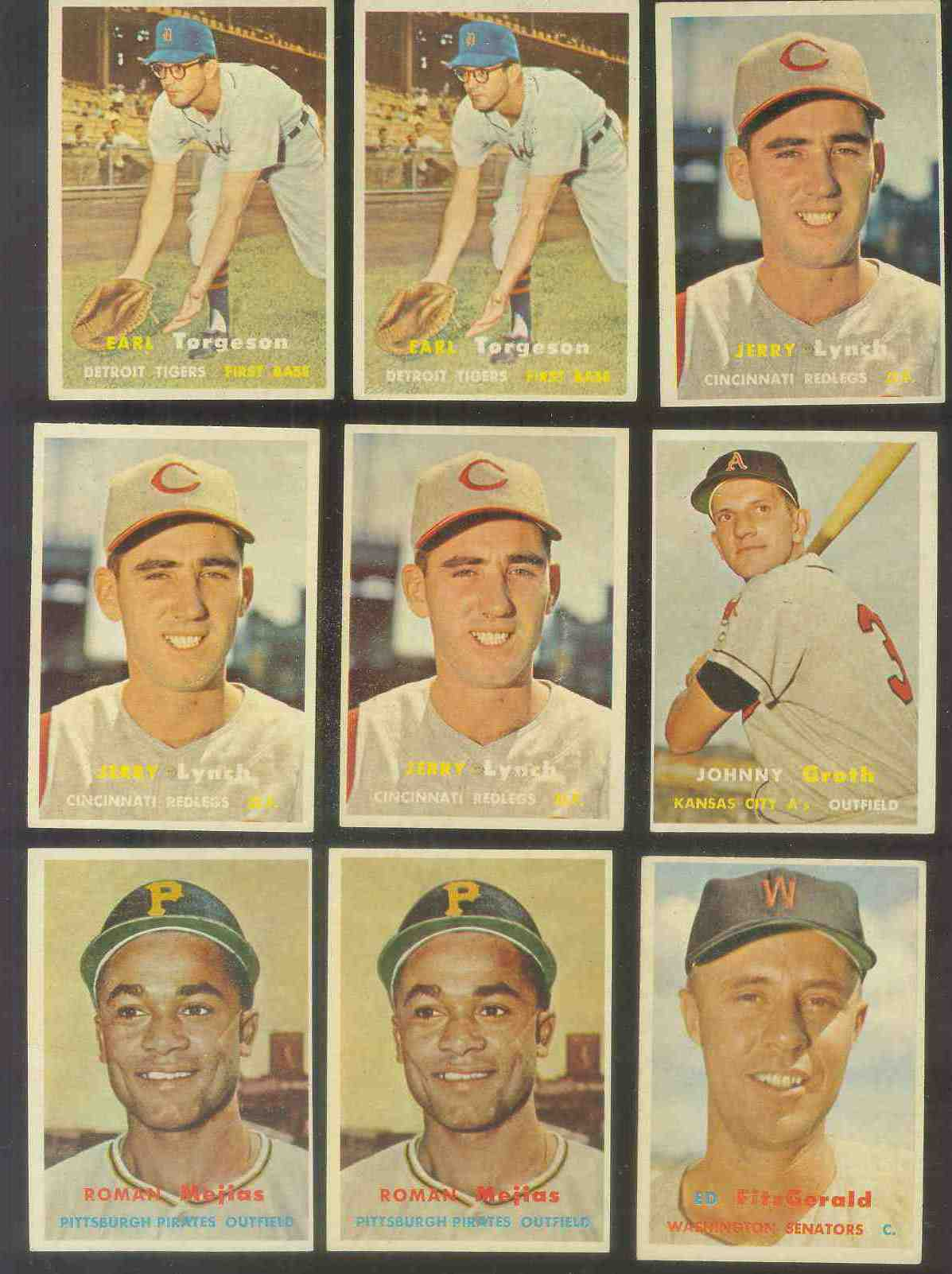 1957 Topps #358 Jerry Lynch (Reds) Baseball cards value