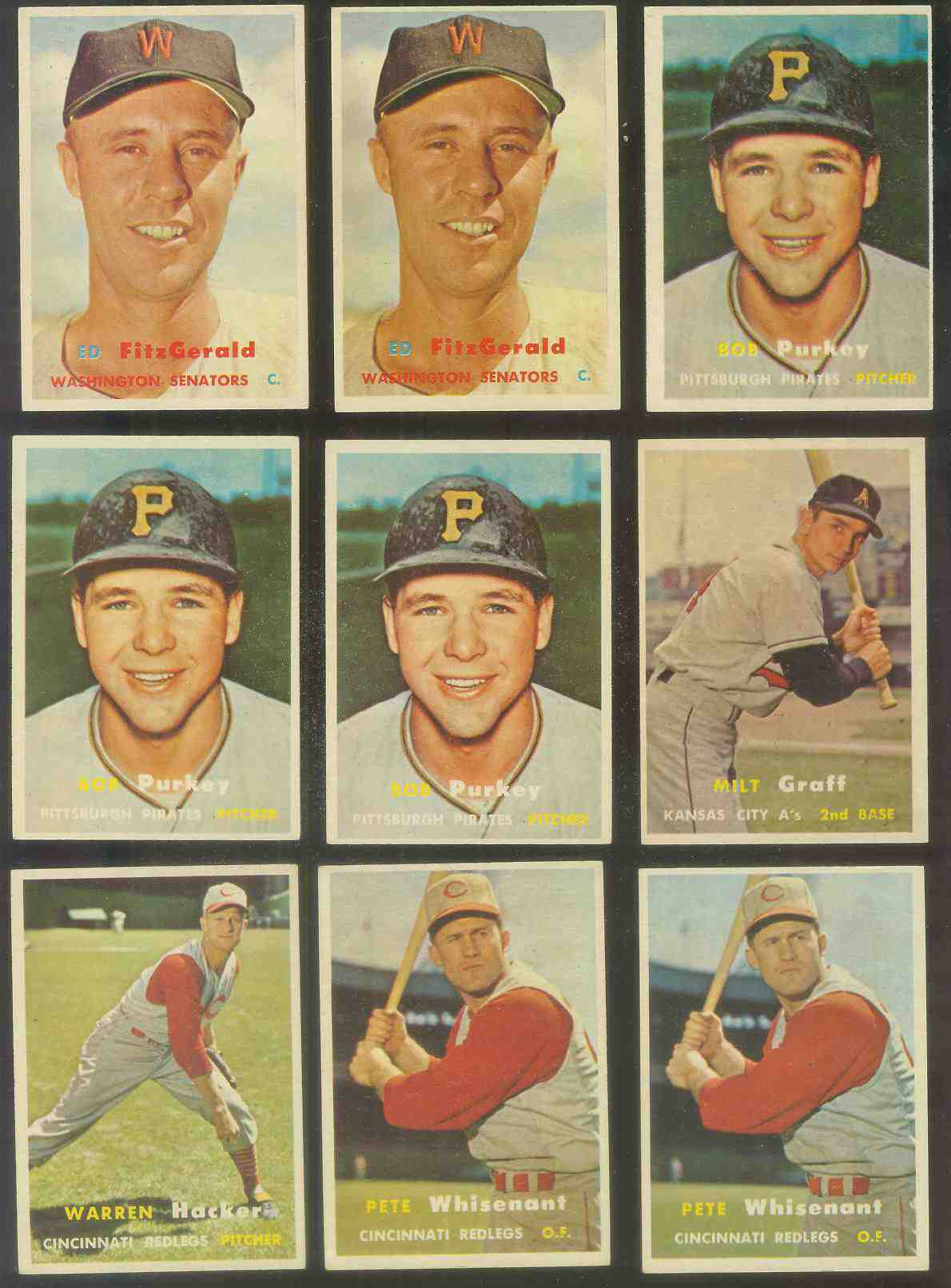 1957 Topps #373 Pete Whisenant (Reds) Baseball cards value