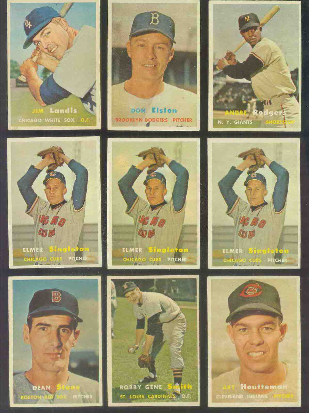 1957 Topps #377 Andre Rodgers (NY Giants) Baseball cards value