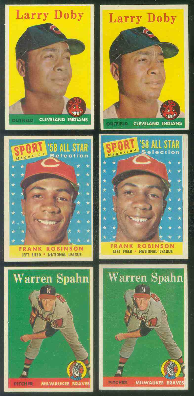 1958 Topps #424 Larry Doby [#a] (Indians) Baseball cards value