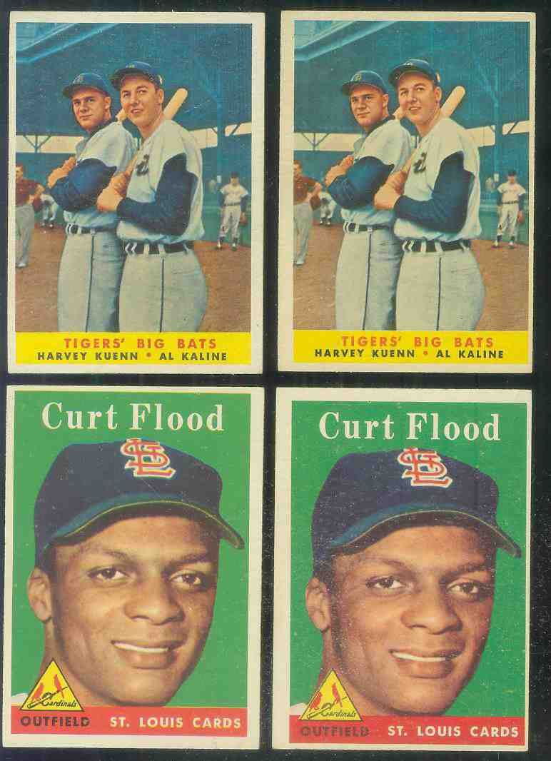 1958 Topps #464 Curt Flood ROOKIE [#a] (Cardinals) Baseball cards value