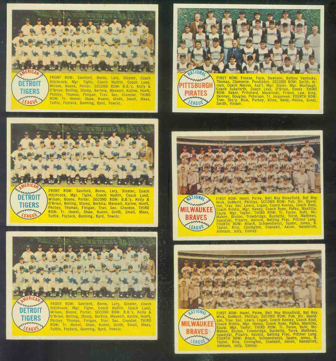 1958 Topps #377A Milwaukee Braves TEAM card [#a] (Alphabetical checklist) Baseball cards value