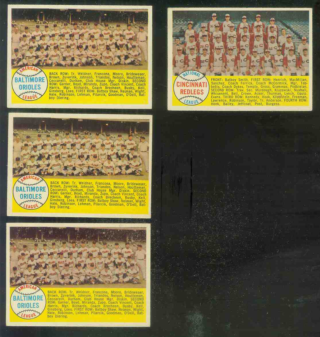 1958 Topps #408A Orioles TEAM card [#b] (Alphabetical checklist) Baseball cards value