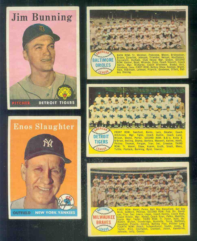 1958 Topps #377A Milwaukee Braves TEAM card [#b] [#x] (Alphabetical checkli Baseball cards value