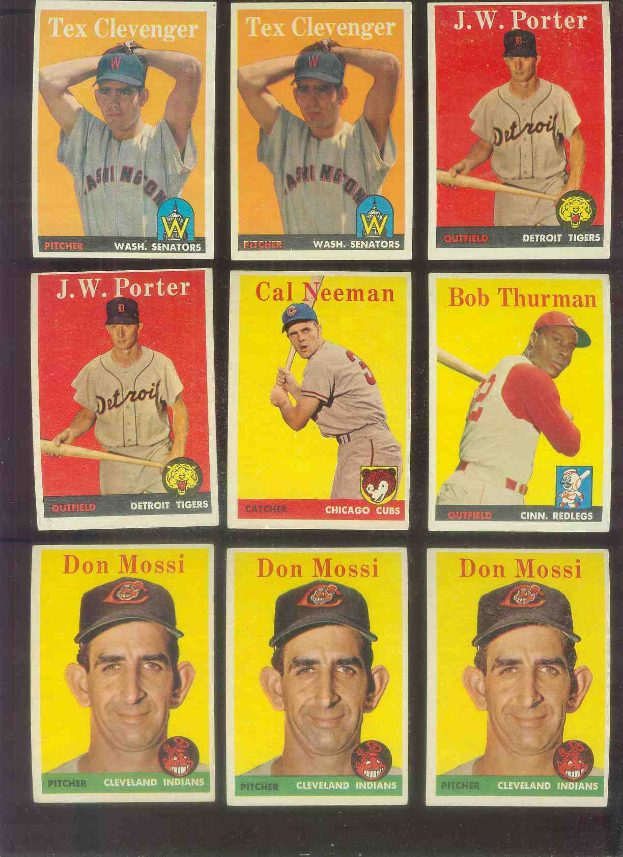 1958 Topps #.31 Tex Clevenger (Senators) Baseball cards value