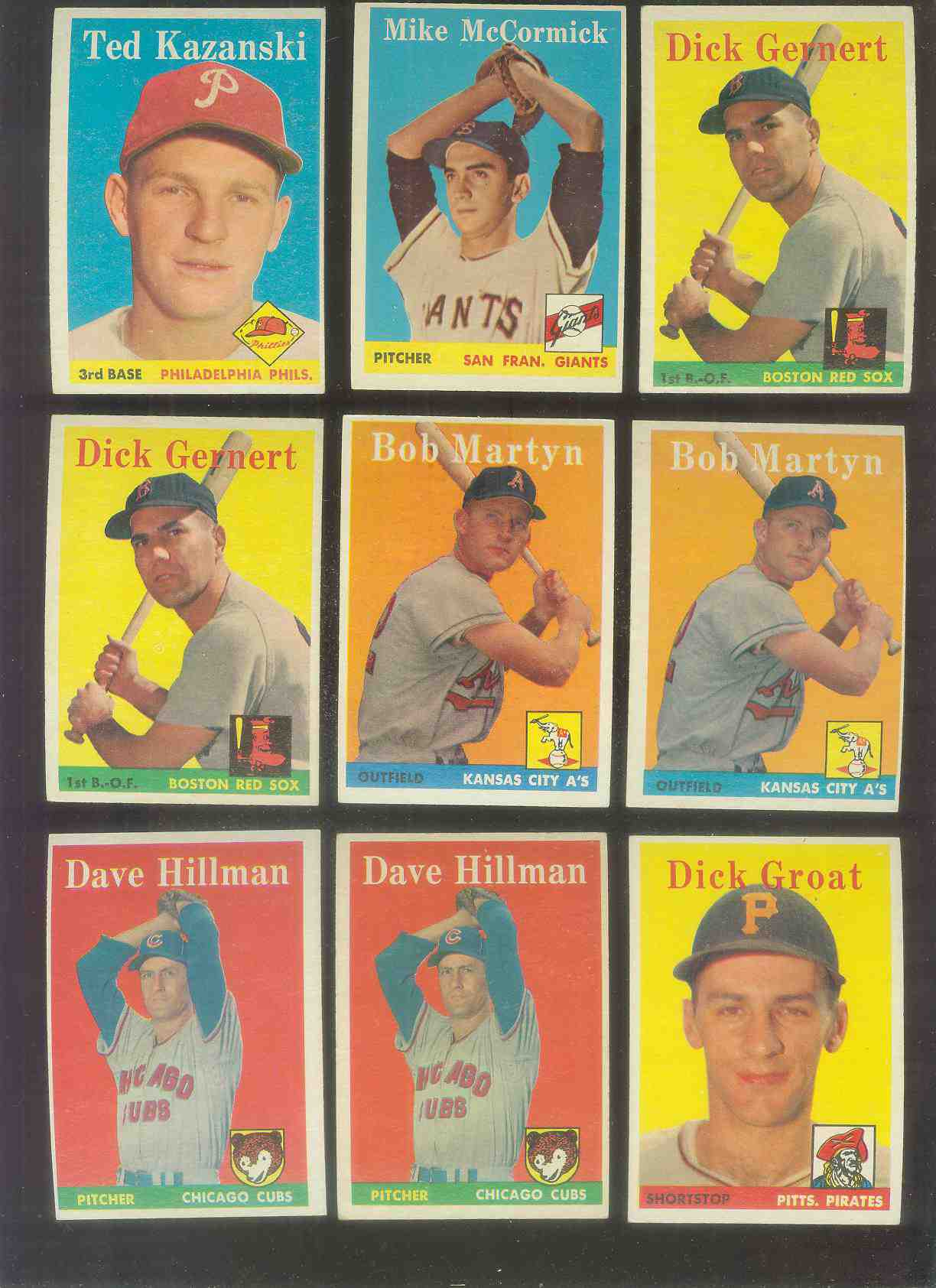 1958 Topps #.41 Dave Hillman (Cubs) Baseball cards value