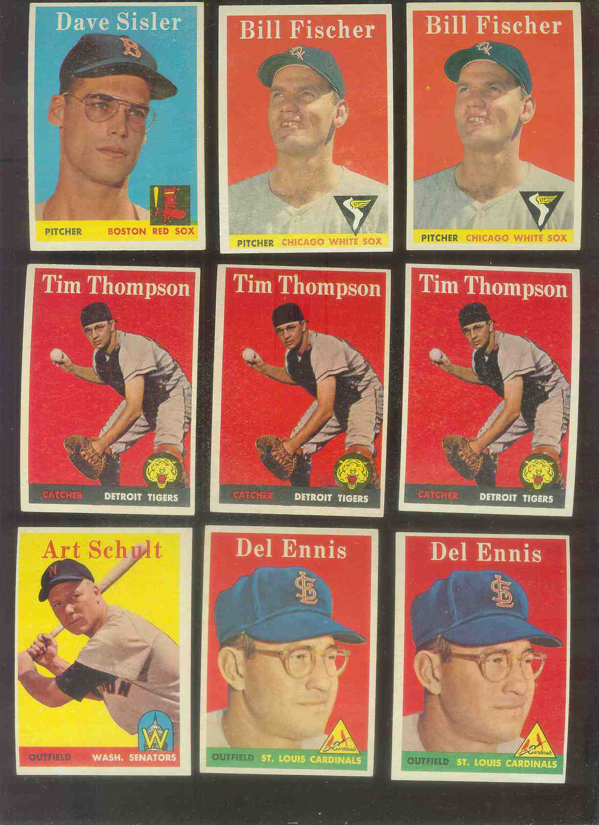1958 Topps #.60 Del Ennis (Cardinals) Baseball cards value