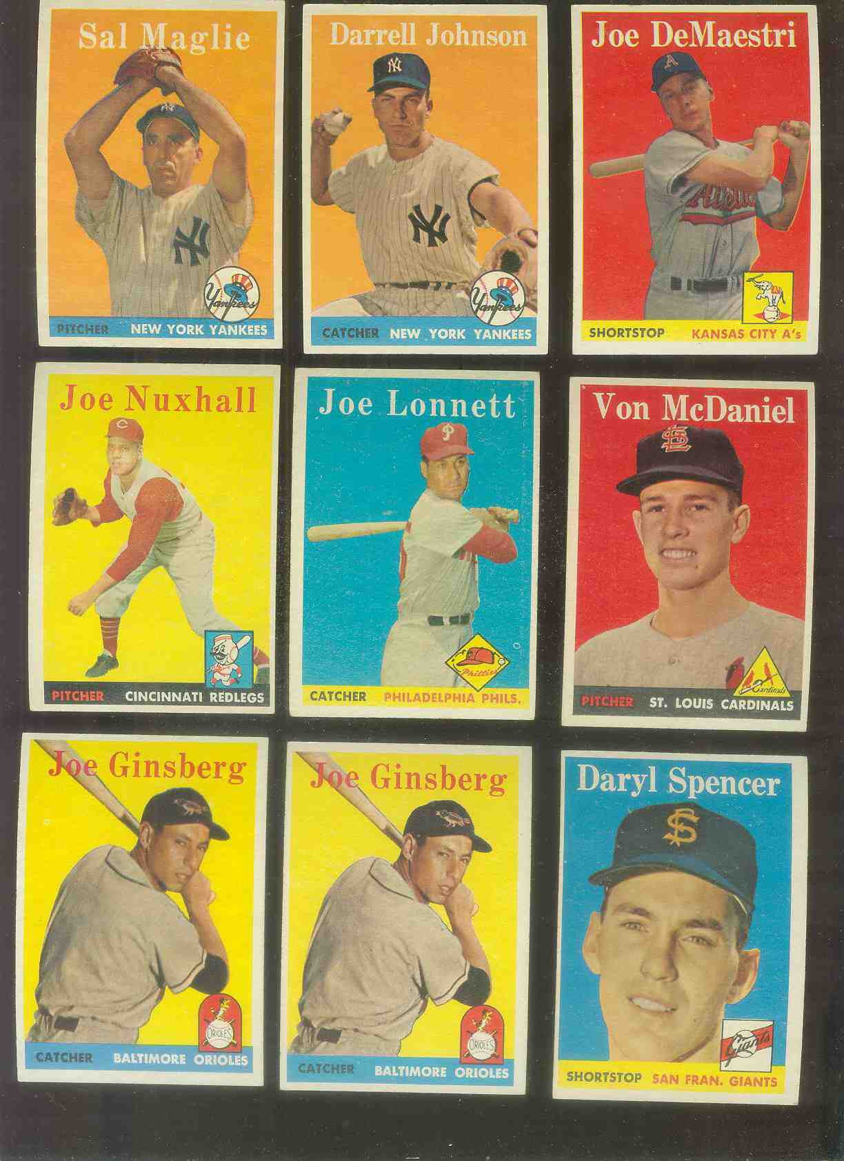 1958 Topps #.67 Joe Ginsberg (Orioles) Baseball cards value
