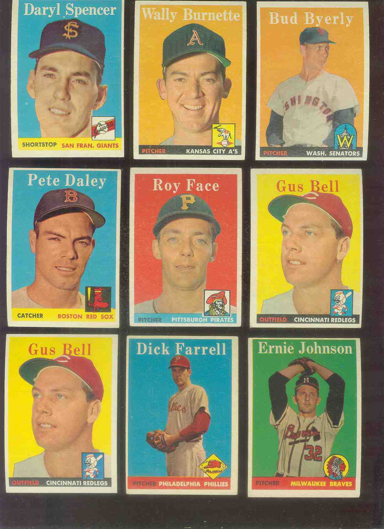 1958 Topps #.72 Bud Byerly (Senators) Baseball cards value