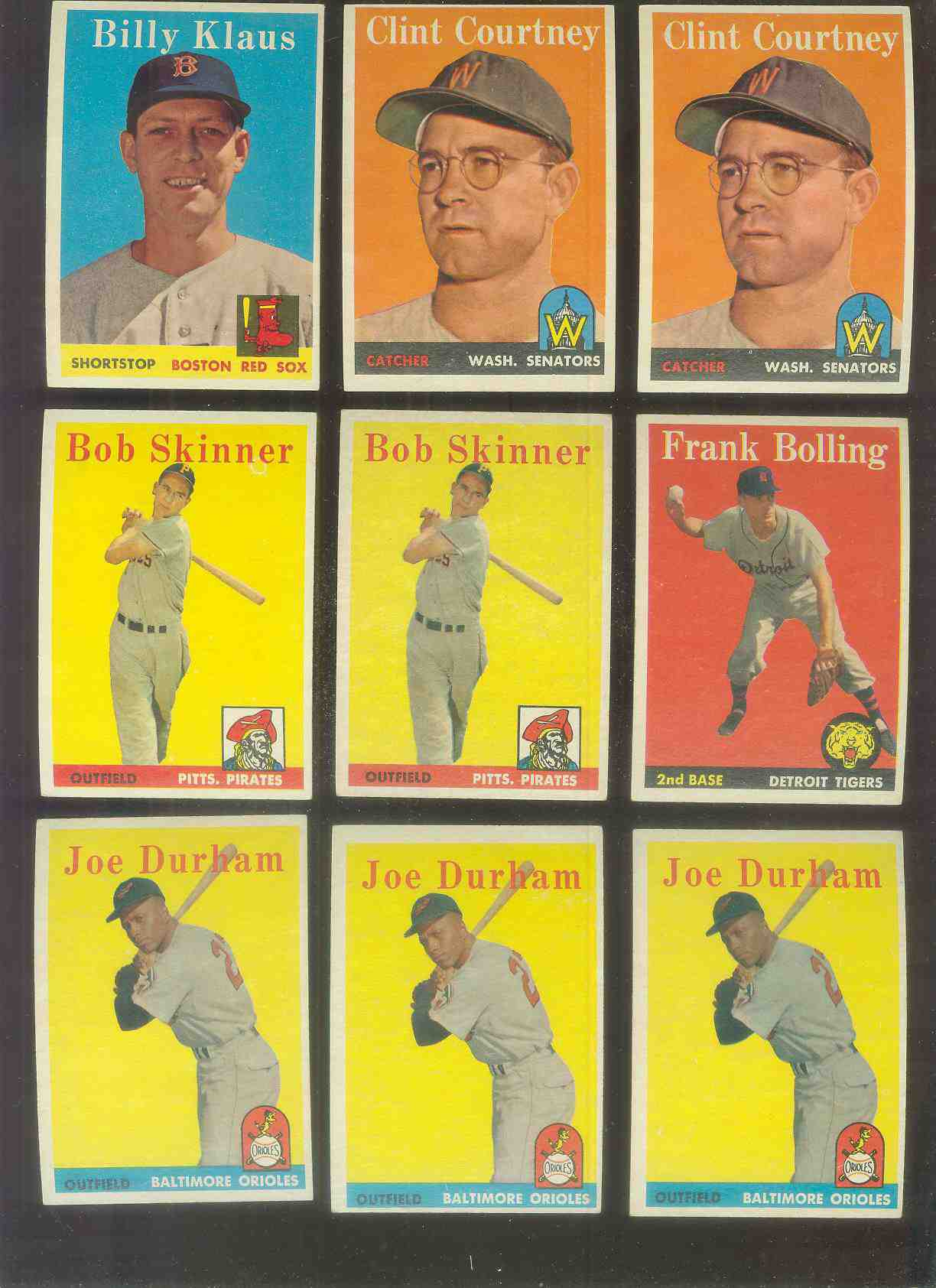 1958 Topps #.92 Clint Courtney (Senators) Baseball cards value