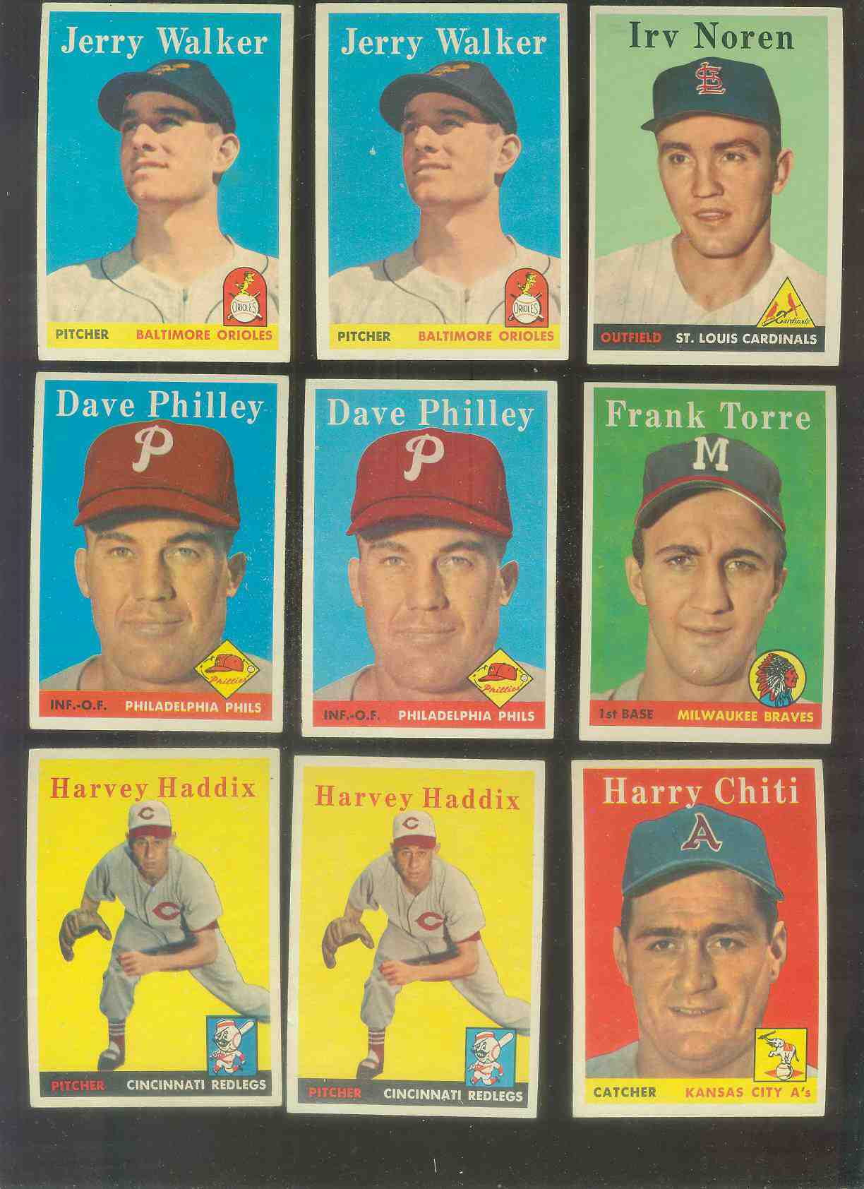 1958 Topps #114 Irv Noren (Cardinals) Baseball cards value