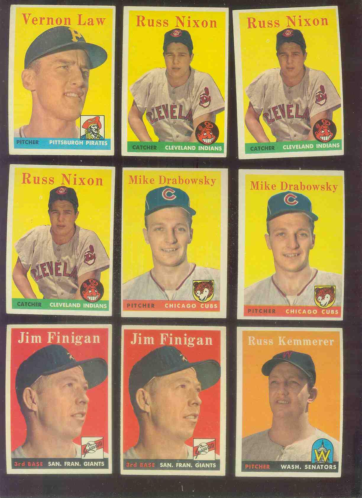 1958 Topps #136 Jim Finigan (Giants) Baseball cards value