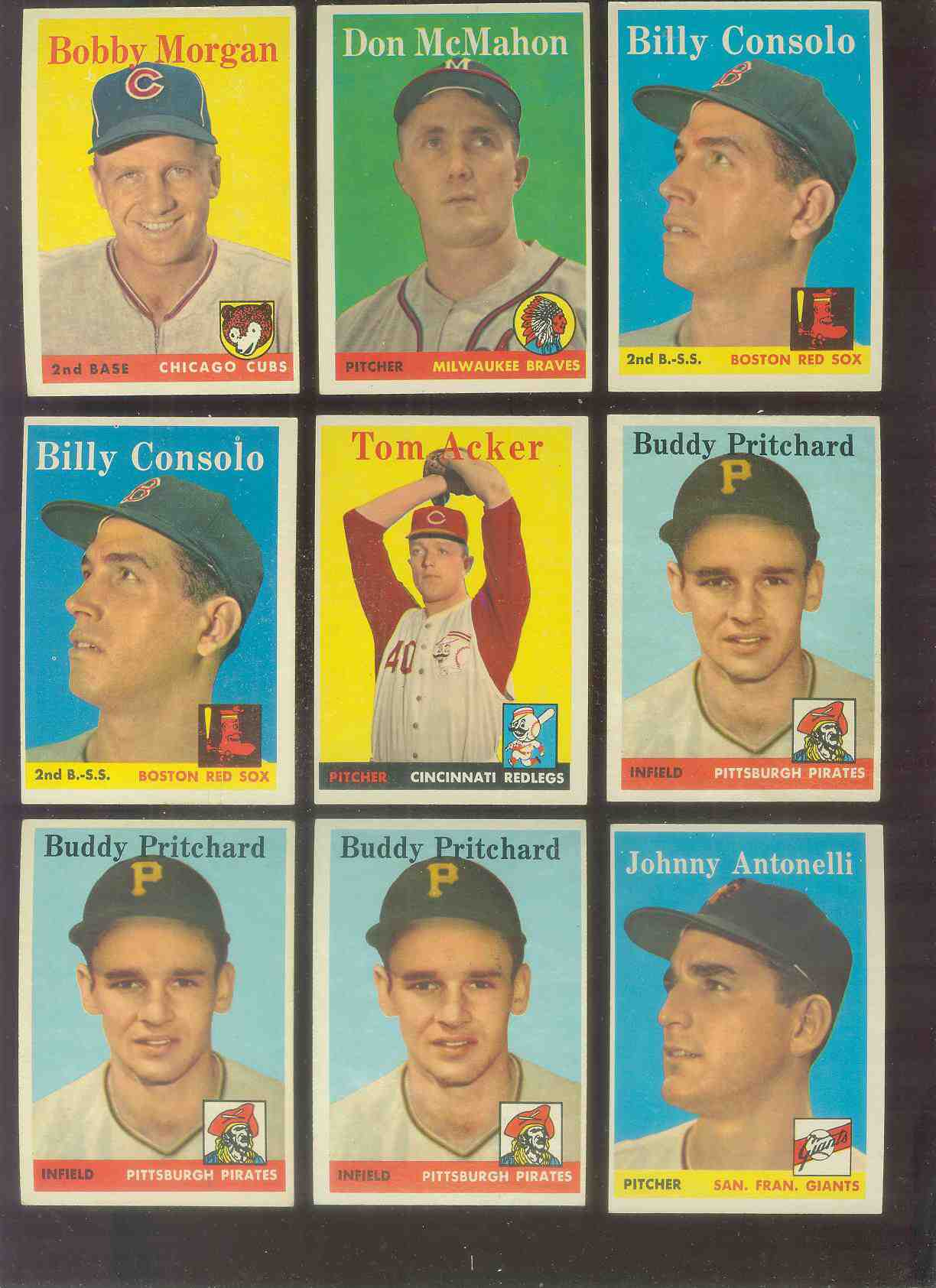 1958 Topps #152 Johnny Antonelli (Giants) Baseball cards value