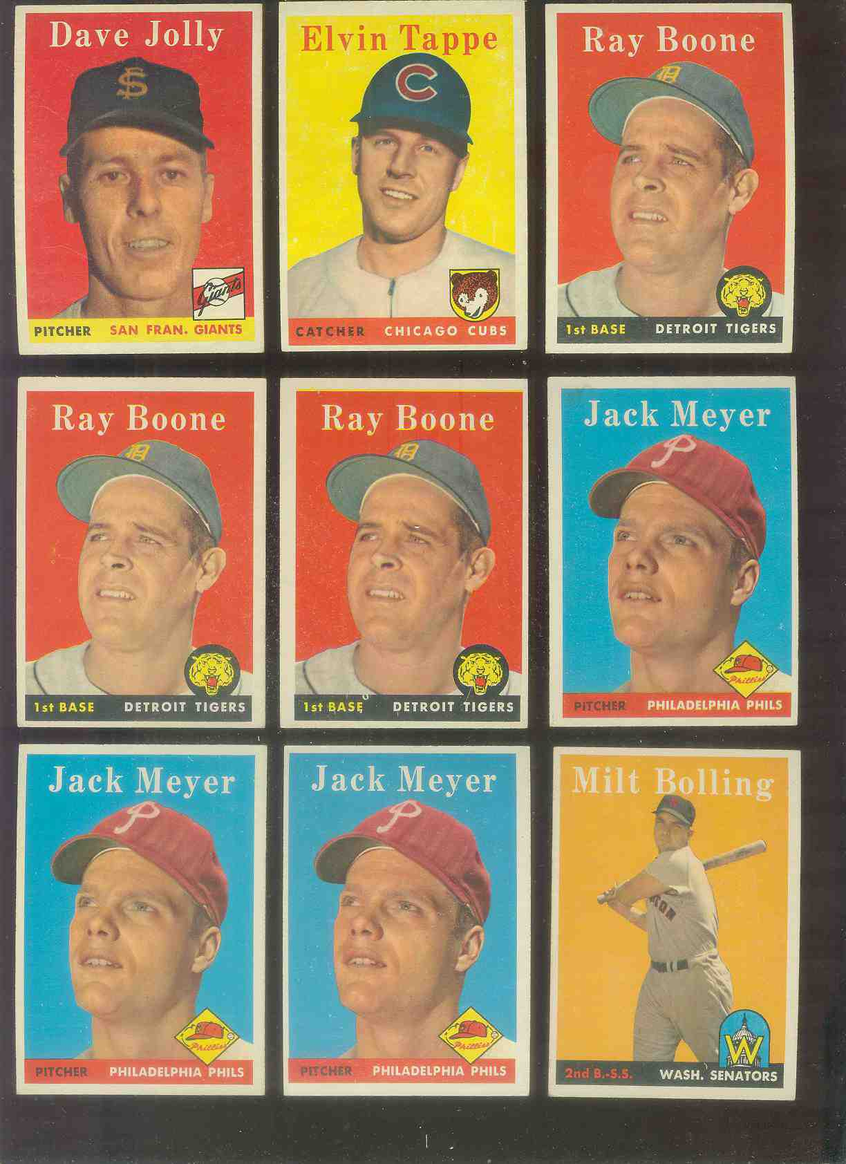 1958 Topps #185 Ray Boone (Tigers) Baseball cards value