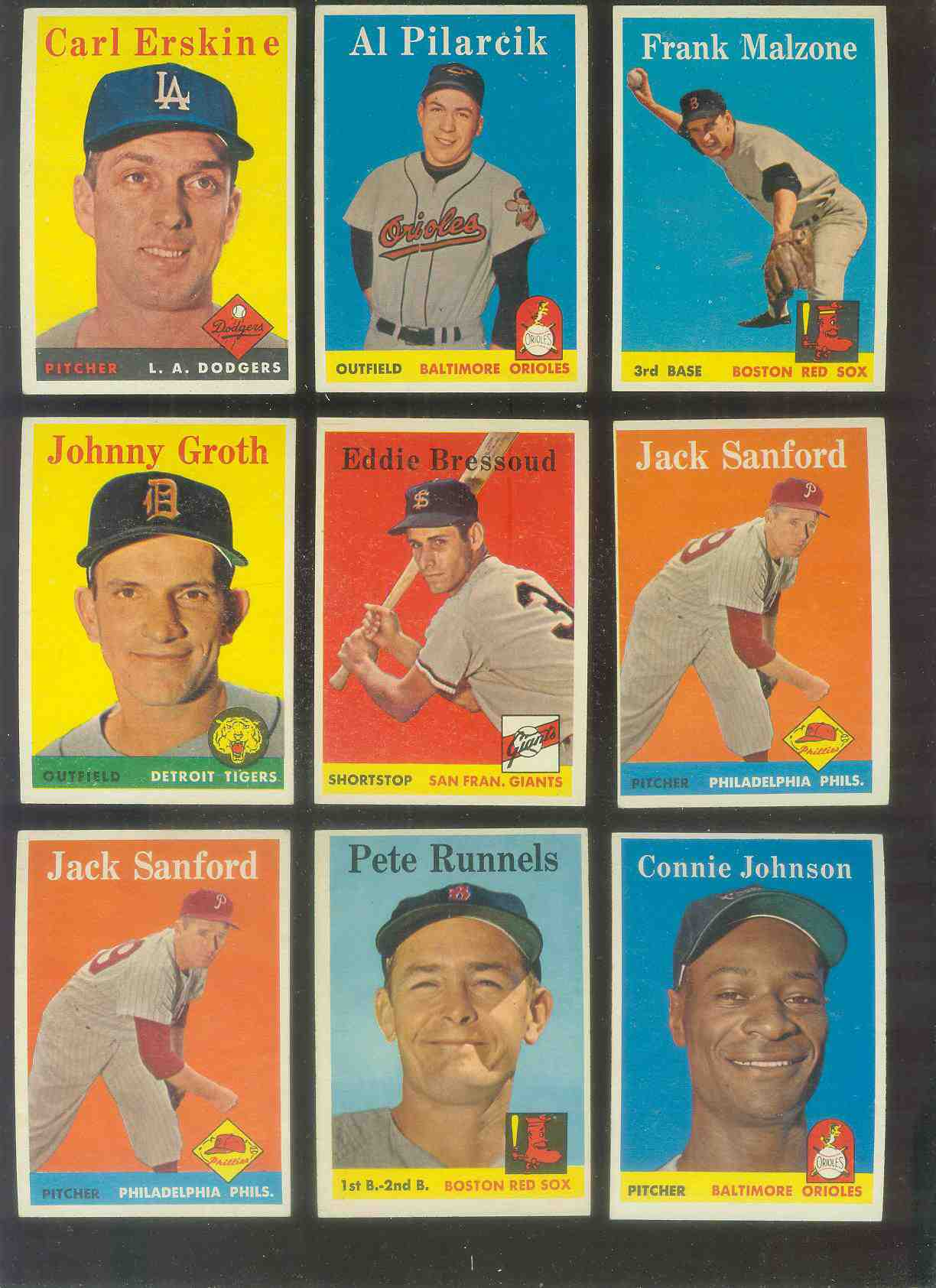 1958 Topps #263 Eddie Bressoud (Giants) Baseball cards value
