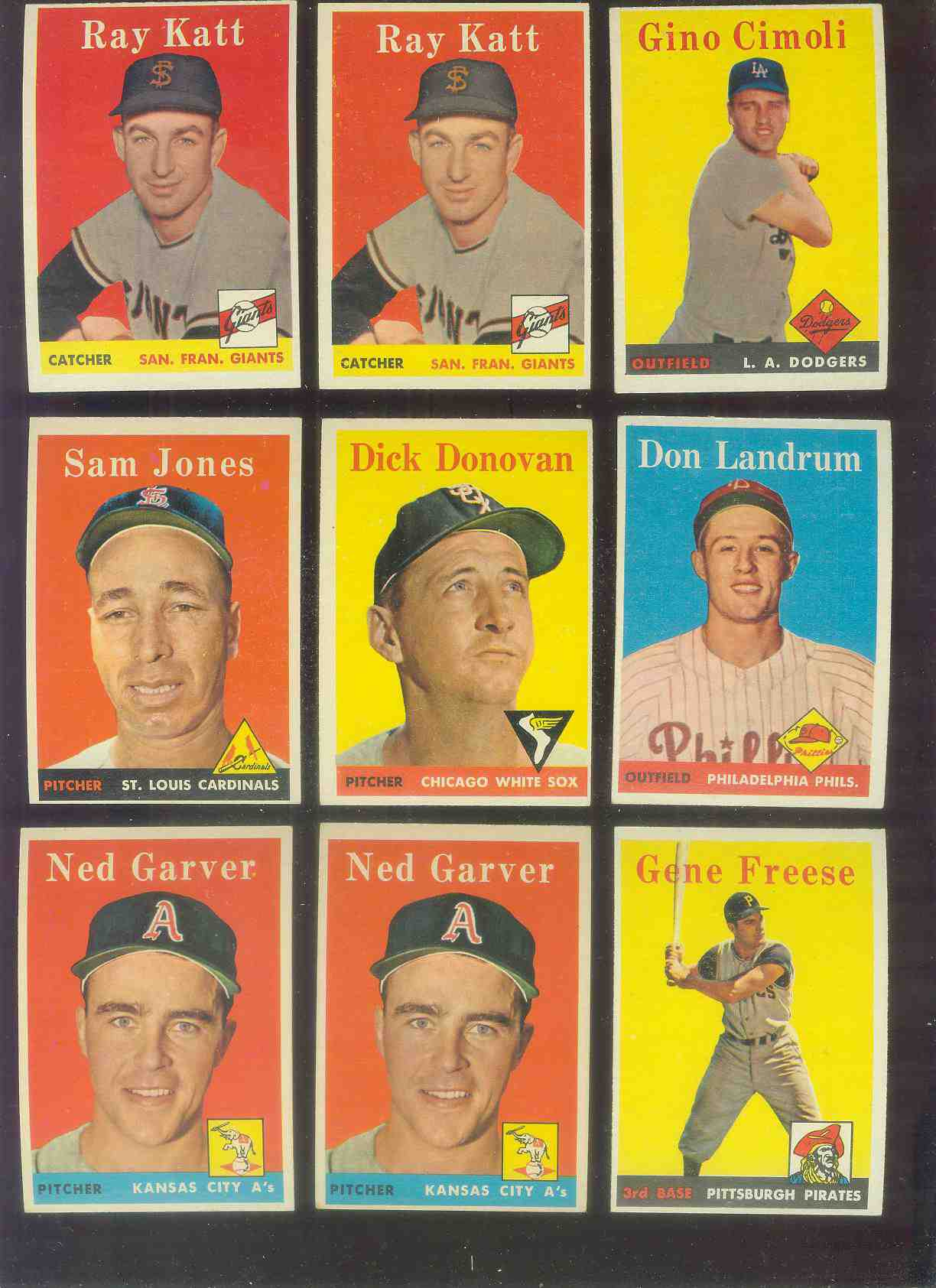 1958 Topps #284 Ray Katt (Giants) Baseball cards value