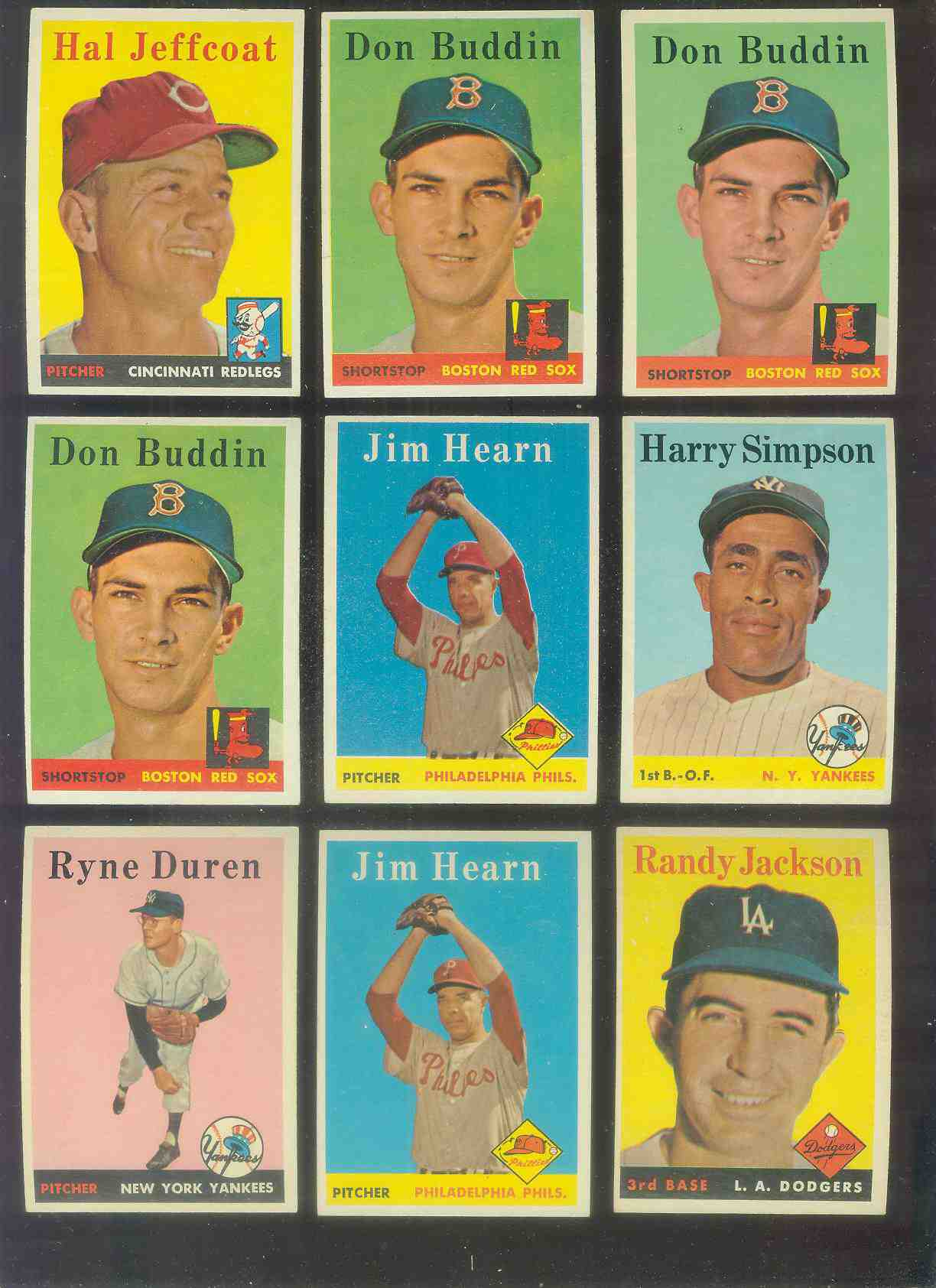 1958 Topps #301 Randy Jackson (Dodgers) Baseball cards value